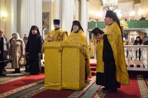 Память священномученика Петра Скипетрова почтили в Александро-Невской лавре