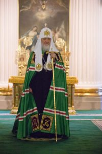 Святейший Патриарх Кирилл совершил Божественную литургию в Свято-Троицком соборе Александро-Невской лавры