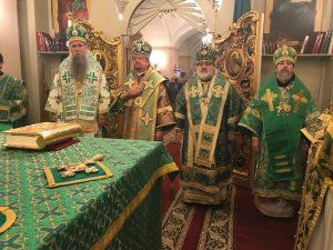 Торжества дня памяти преподобного Арсения Коневского на Коневце
